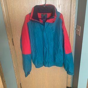 Vintage 90s Teal Red ST JOHNS BAY Mens Medium